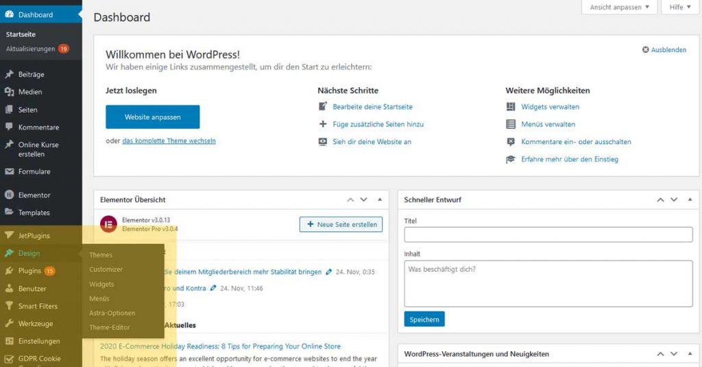 Artikel_Wordpress_Dashboard_Theme_installieren